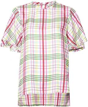 Prabal Gurung plaid print blouse