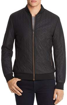 Antony Morato Leather Quilted Bomber Jacket