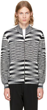 Missoni Black and White Zip-Up Sweater
