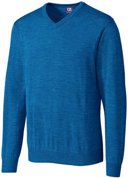 Cutter & Buck Royal Blue Douglas V-Neck Sweater - Men