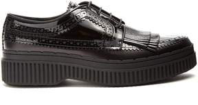 Tod's Fringed brogue-detail leather creepers