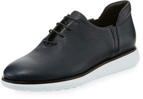 Giorgio Armani Men's Pebbled Leather Platform Sneakers