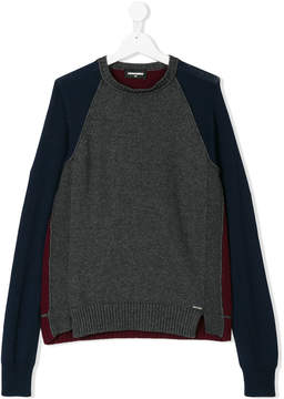 DSQUARED2 color block knitted sweater