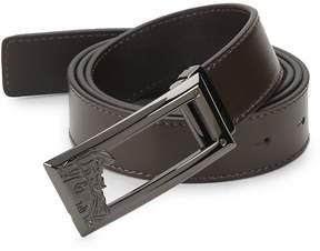 Versace Men's Logo Leather Belt