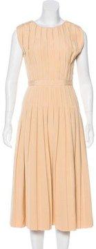 Bottega Veneta Pleated Midi Dress