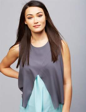 A Pea in the Pod Ripe Pull Over Tiered Nursing Top