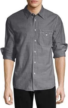 Save Khaki Men's Chambray Utility Cotton Sportshirt
