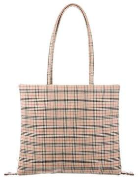 Burberry House Check Woven Tote