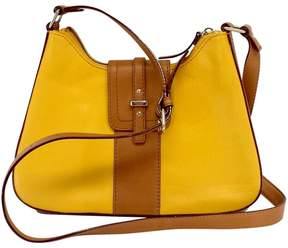 Kate Spade Yellow & Brown Leather Crossbody Bag - YELLOW - STYLE
