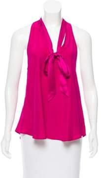 Amanda Uprichard Sleeveless Silk Top