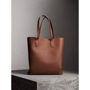 Burberry Medium Embossed Leather Tote Bag