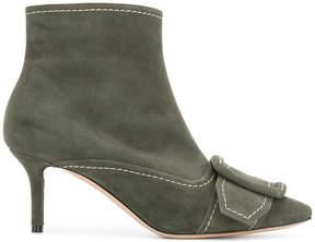 Casadei contrast stitch boots