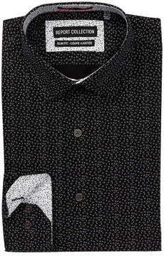 Report Collection Geo Dot Slim Fit Dress Shirt