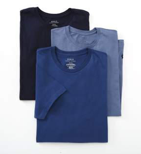 Polo Ralph Lauren LCCN Classic Fit 100% Cotton Crew T-Shirts - 3 Pack (Navy Assorted M)