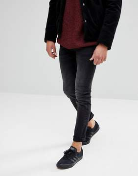 Celio Slim Fit Jeans In Washed Black