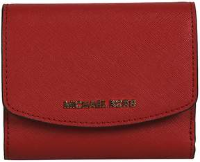 Michael Kors Logo Plaque French Wallet - RED - STYLE