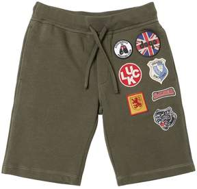 DSQUARED2 Scout Patches Cotton Sweat Shorts