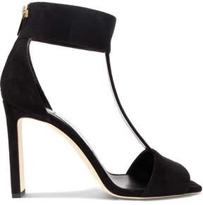 Jimmy Choo Bethel 100 Suede Sandals - Black