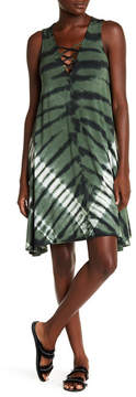 Fifteen-Twenty Fifteen Twenty Front Crisscross Tie Dye Print Swing Dress