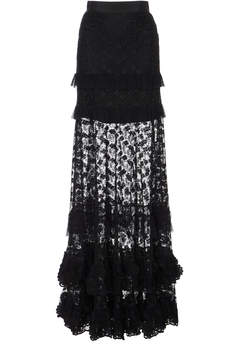 Alexis M'O Exclusive Janis Ruffle Maxi Skirt