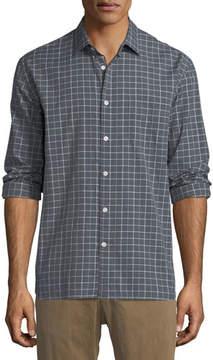 Billy Reid John T Grid-Print Sport Shirt