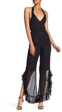 Amanda Uprichard Moonlight Star Print Jumpsuit