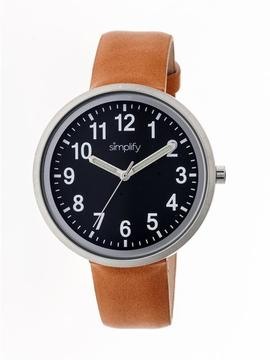 Simplify The 2600 Collection SIM2603 Unisex Watch with Leather Strap