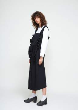 Comme des Garcons Sleeveless Double Ruffle Dress