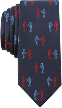 Bar III Men's Fighting Robots Skinny Tie, Created for Macy's