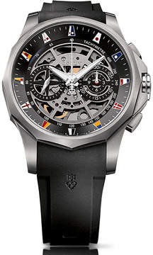 Corum Admiral Legend 47 chronograph titanium rubber strap automatic watch