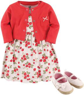 Hudson Baby Pink Strawberries A-Line Dress Set - Newborn & Infant