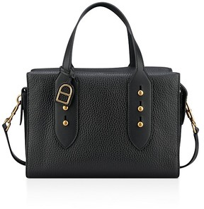 Anne Klein Collar Pin Leather Satchel