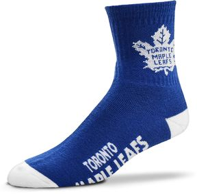 For Bare Feet Adult Toronto Maple Leafs Team Color Quarter-Crew Socks