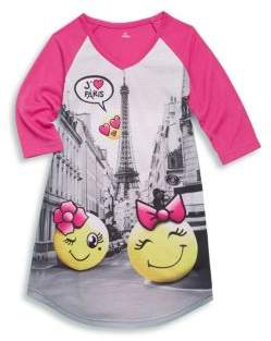 Petit Lem Little Girl's Emoji Paris Nightgown