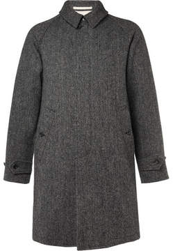 Beams Harris Tweed Wool Coat