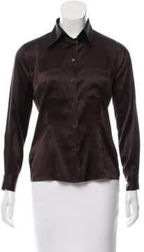 Emporio Armani Silk Button-Up