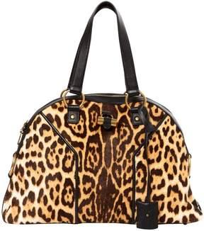 Saint Laurent Muse pony-style calfskin handbag - BROWN - STYLE