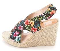 Dolce Vita Womens Sovay Fabric Peep Toe Special Occasion Platform Sandals.