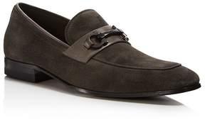 Salvatore Ferragamo Men's Cremona Gancini Suede Loafers