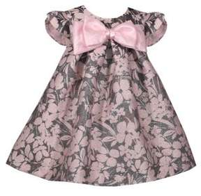 Iris & Ivy Baby Girl's Jaquards Floral Bow Dress