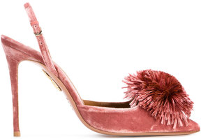 Aquazzura Powder Puff slingback heels