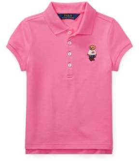 Polo Ralph Lauren Bear Mesh Polo Shirt Baja Pink 6
