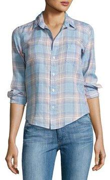 Frank And Eileen Barry Plaid Long-Sleeve Linen Shirt