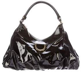 Gucci Patent D-Ring Hobo - BLACK - STYLE