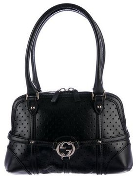 Gucci Perforated Leather Reins Hobo - BLACK - STYLE