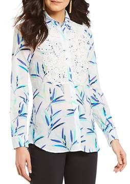 Isaac Mizrahi Imnyc IMNYC Lace Bib Shirt