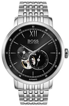 BOSS Men's Signature Automatic Bracelet Watch, 44Mm