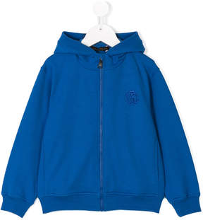 Roberto Cavalli embroidered logo hoodie