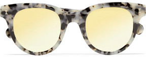 Illesteva Sicilia Cat-eye Acetate Mirrored Sunglasses - Gray