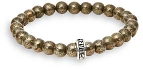 King Baby Studio Men's Pyrite Bead Bracelet
